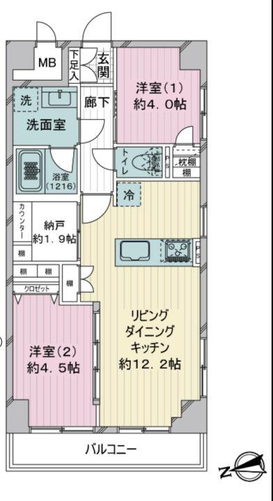 西荻日伸ハイツ 4階
