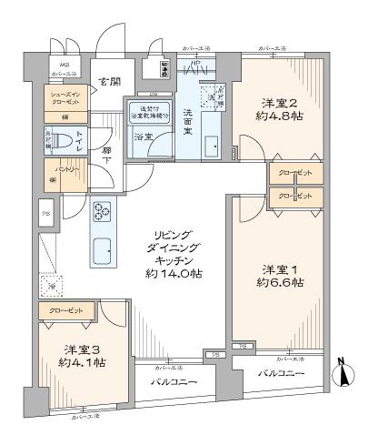 東中野フレンドマンション 4階