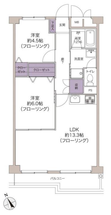 【価格改定】ニュー国分寺ハイツ 9階