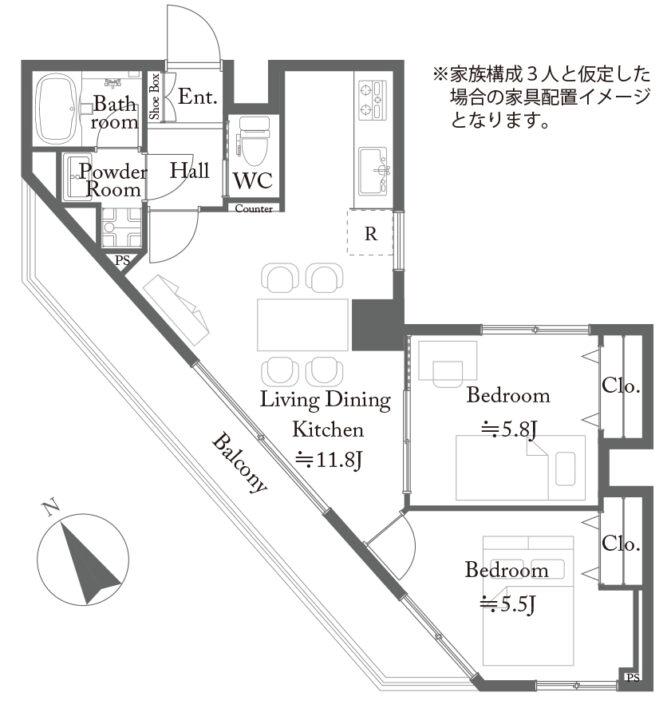 【価格改定】コスモ中台 6階