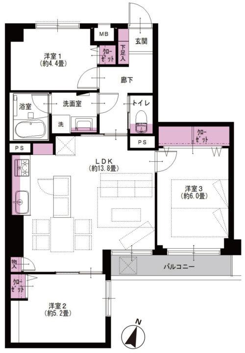 成増ガーデンハイツ 3階