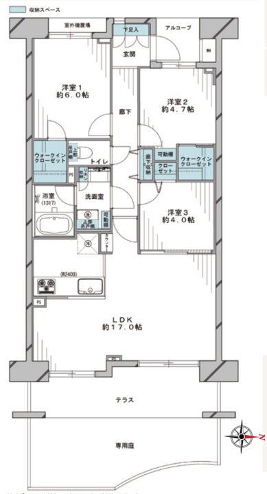 【価格改定】ブロッサムコートむさし野ビュー・ウイング 1階
