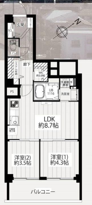 旭ヶ丘マンション 7階