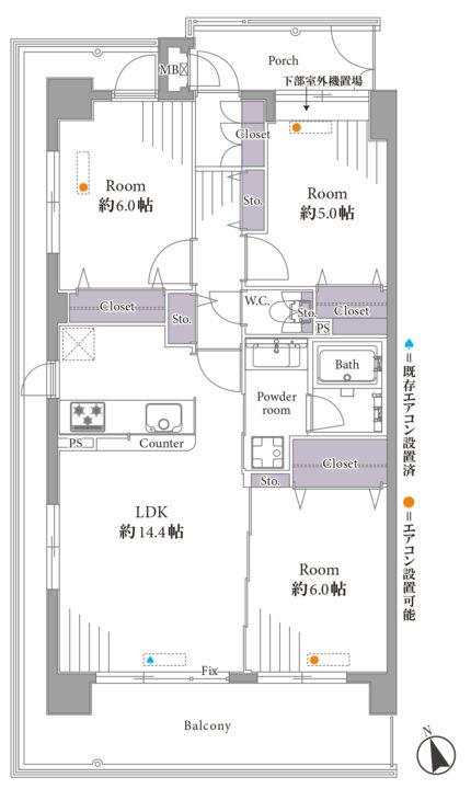 クレストフォルム高井戸南 3階