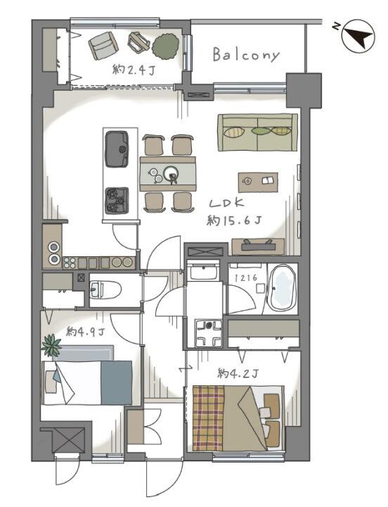 マイキャッスル武蔵関 4階