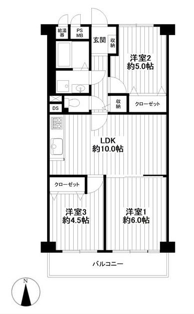 ルネ武蔵境 4階