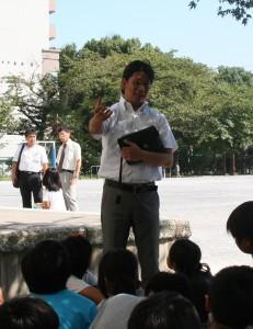 板橋区内の小学校での授業風景